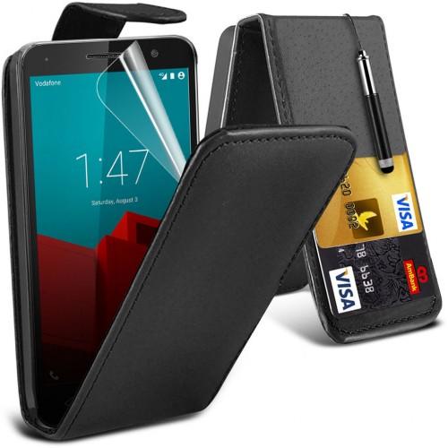 Flip Θήκη Vodafone Smart Prime 7 - Μαύρο (8698) - OEM