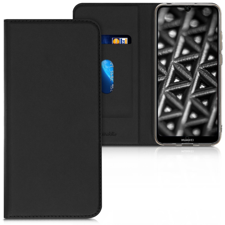 KW Θήκη - Πορτοφόλι Flip Huawei Y6 2019 - Black (48124.01)