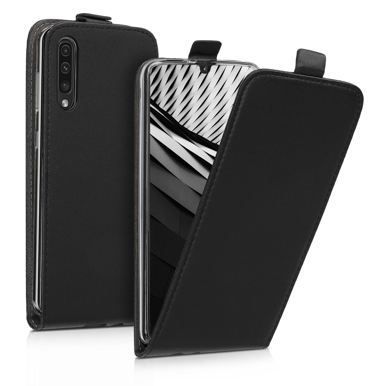 KW Θήκη Flip Samsung Galaxy A50 - PU Leather - Black (48057.01)