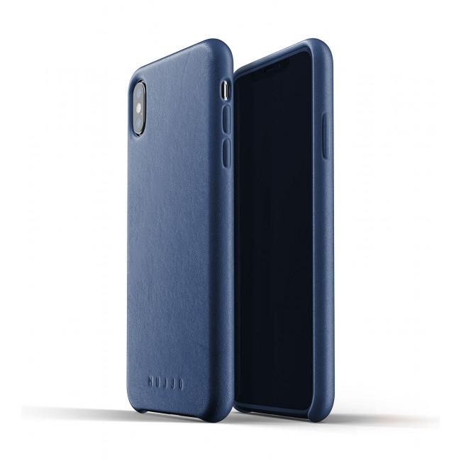 MUJJO Full Leather Case - Δερμάτινη Θήκη iPhone XS Max - Blue (MUJJO-CS-103-BL)