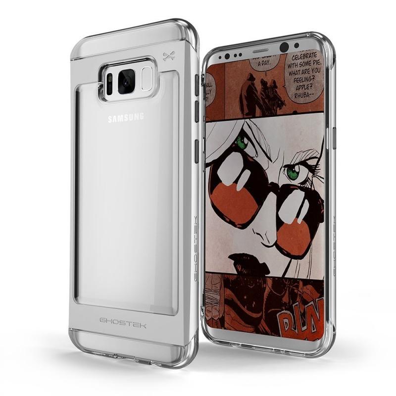 Ghostek Θήκη Cloak 2 Samsung Galaxy S8 + Screen Protector - Clear/Silver (GHOCAS631)
