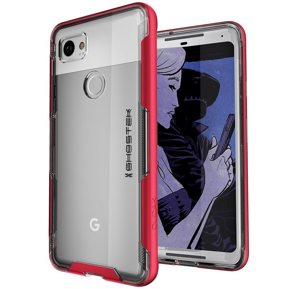 Ghostek Cloak 3 Series Θήκη Google Pixel 2 - Clear / Red (CA-GHOCAS713-00)