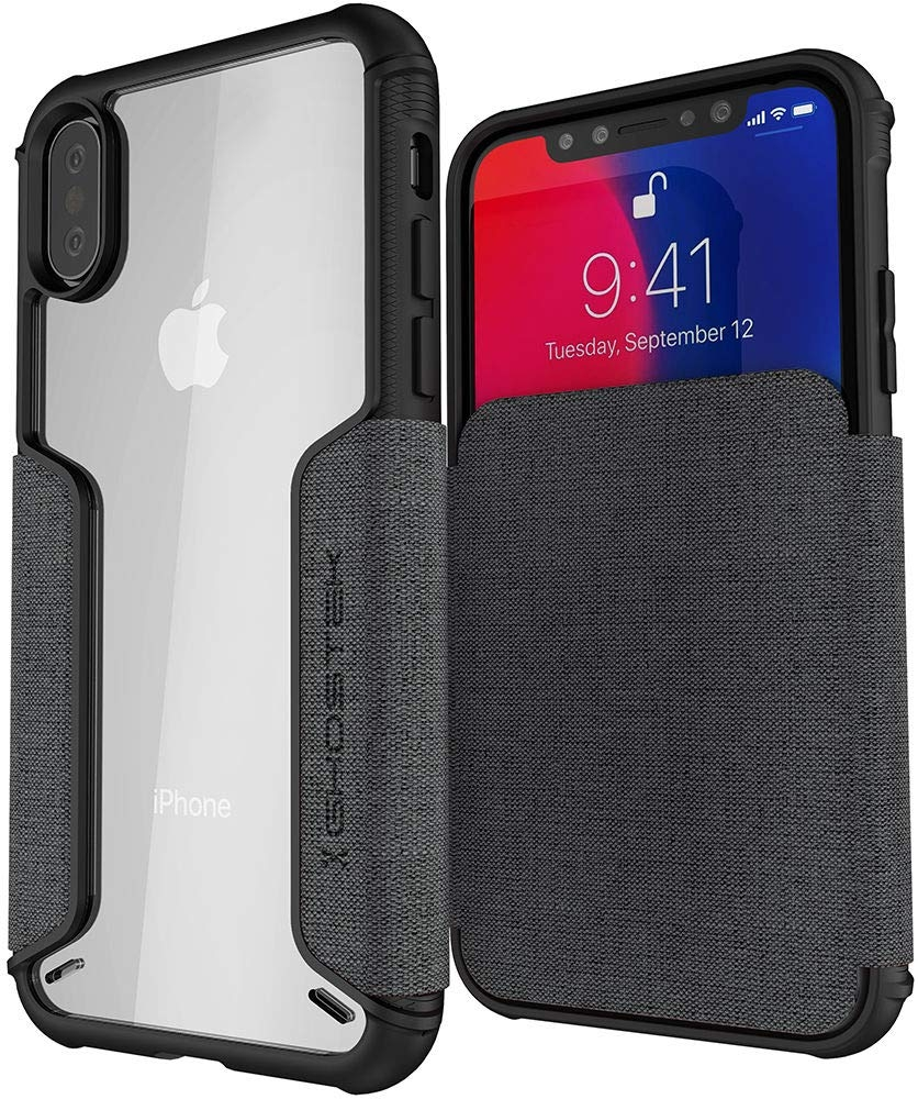 Ghostek Exec 3 - Θήκη Πορτοφόλι iPhone XS / X - Storm Gray (GHOCAS1065)