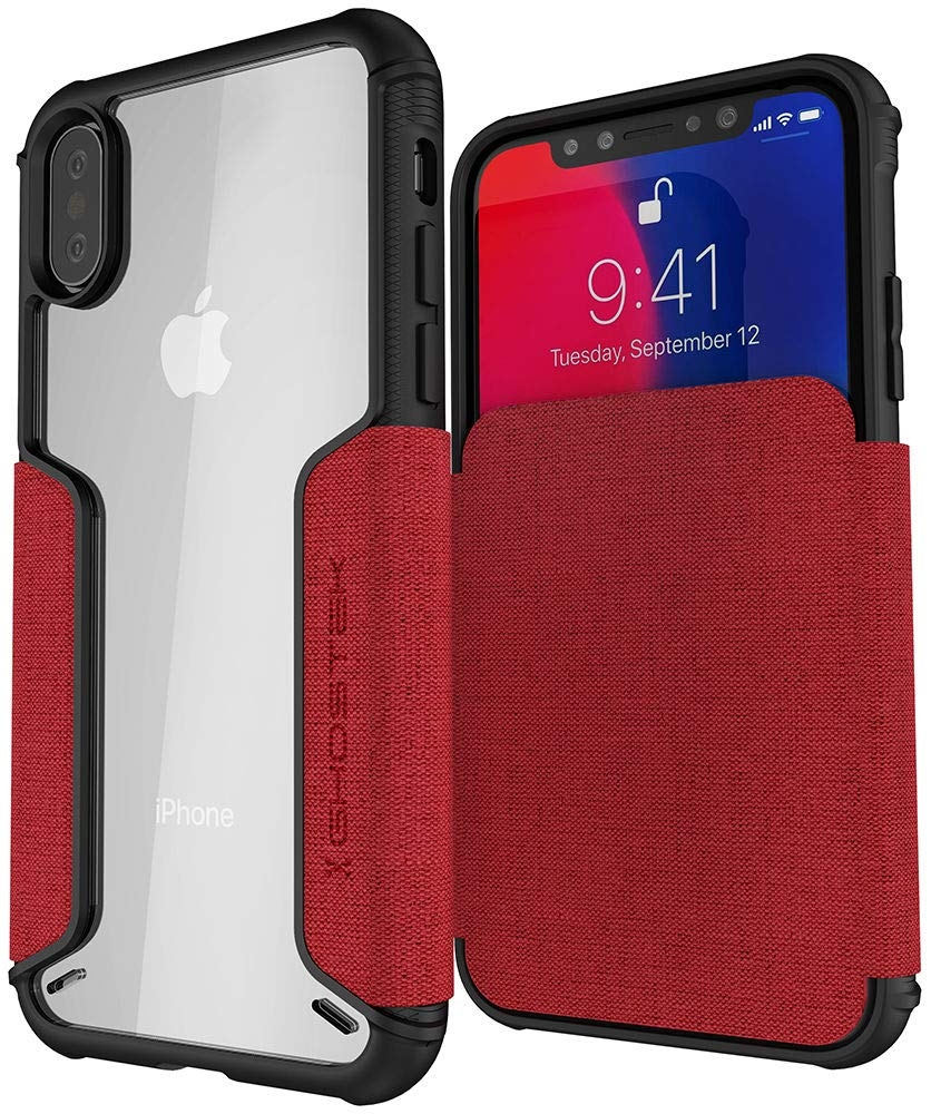 Ghostek Exec 3 - Θήκη Πορτοφόλι iPhone XS / X - Rage Red (GHOCAS1066)
