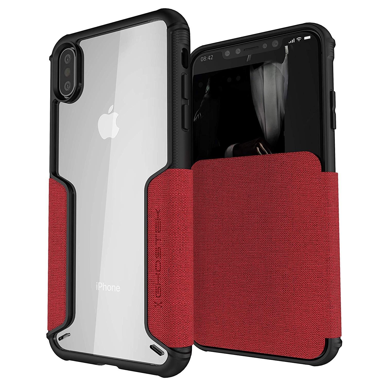 Ghostek Exec 3 - Θήκη Πορτοφόλι iPhone XS Max - Rage Red (GHOCAS1072)