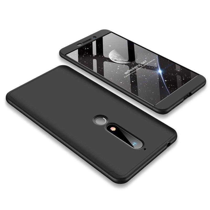 GKK Θήκη Hybrid Full Body 360° Nokia 6.1 / Nokia 6 2018 - Black (44479)