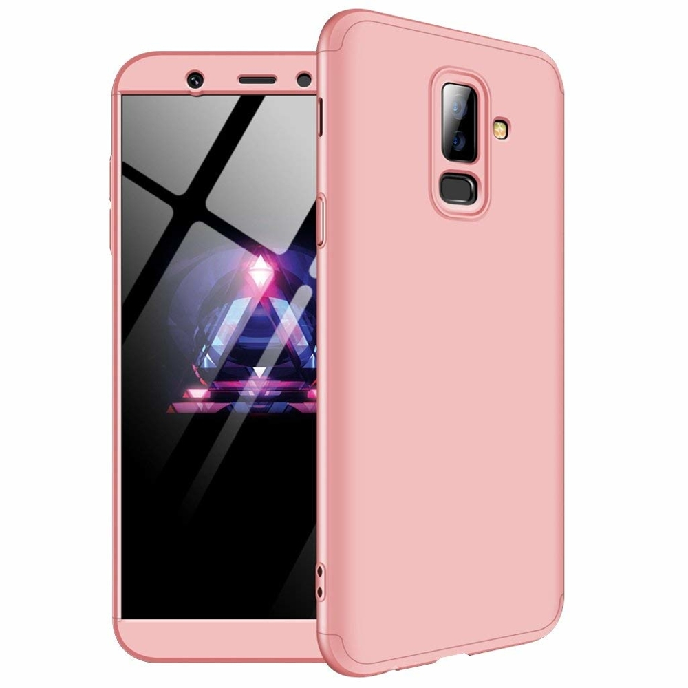 GKK Θήκη Hybrid Full Body 360° Samsung Galaxy A6 Plus 2018 - Rose Gold (44490)