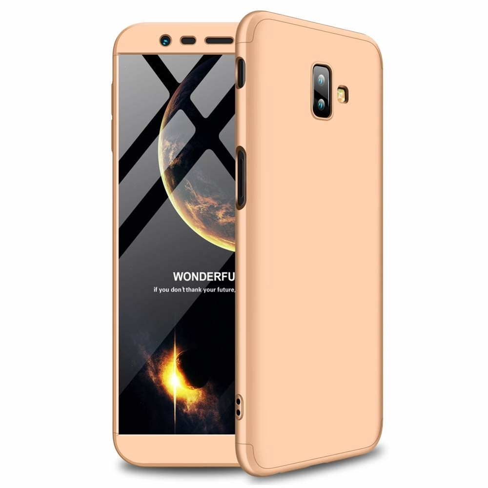 GKK Θήκη Hybrid Full Body 360° Samsung Galaxy J6 Plus 2018 - Gold (44494)
