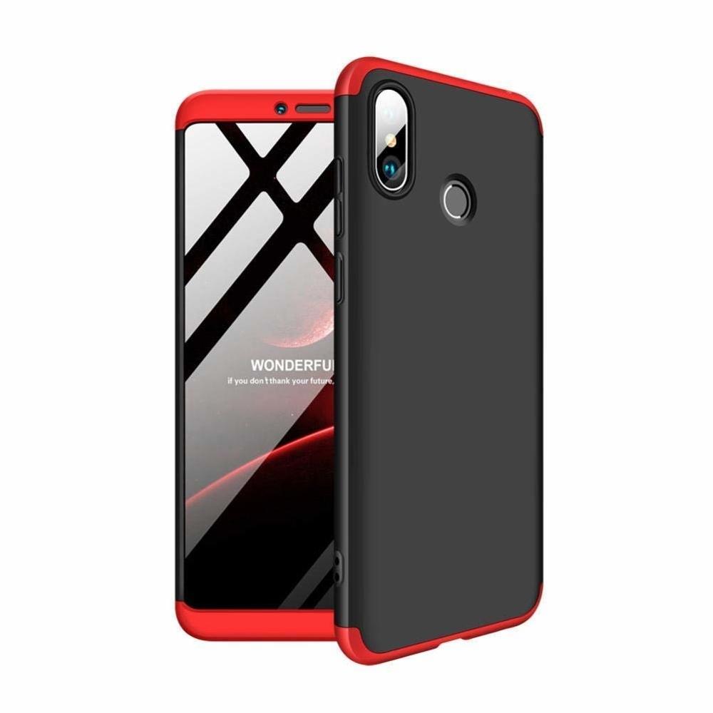 GKK Θήκη Hybrid Full Body 360° Xiaomi Mi Max 3 - Black Red (44540)