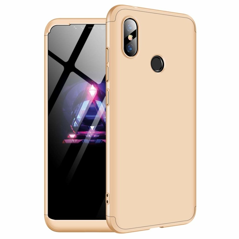 GKK Θήκη Hybrid Full Body 360° Xiaomi Redmi Note 6 Pro - Gold (44469)