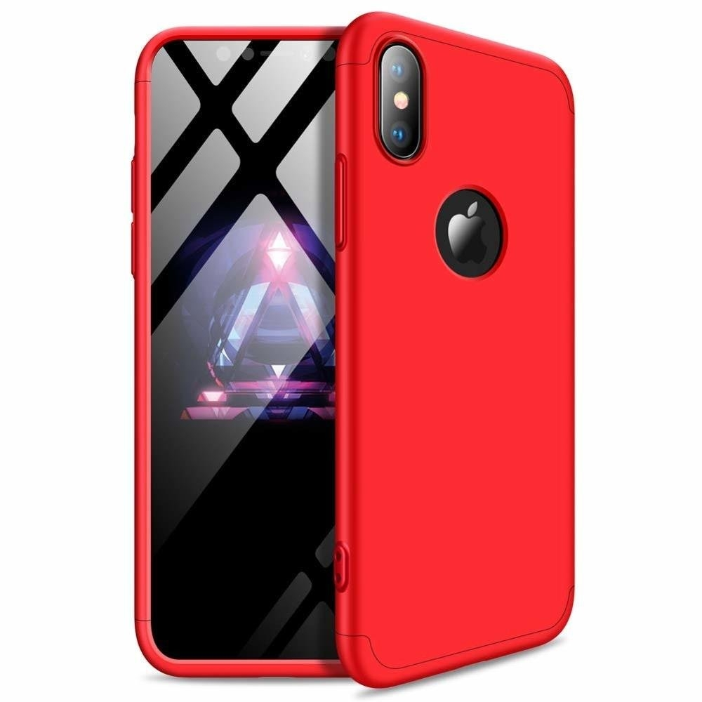 GKK Θήκη Hybrid Full Body 360° iPhone XR - Red (45163)