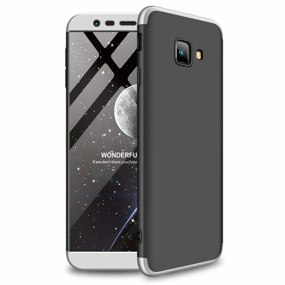 GKK Θήκη Hybrid Full Body 360° Samsung Galaxy J4 Plus 2018 - Black Silver (45178)