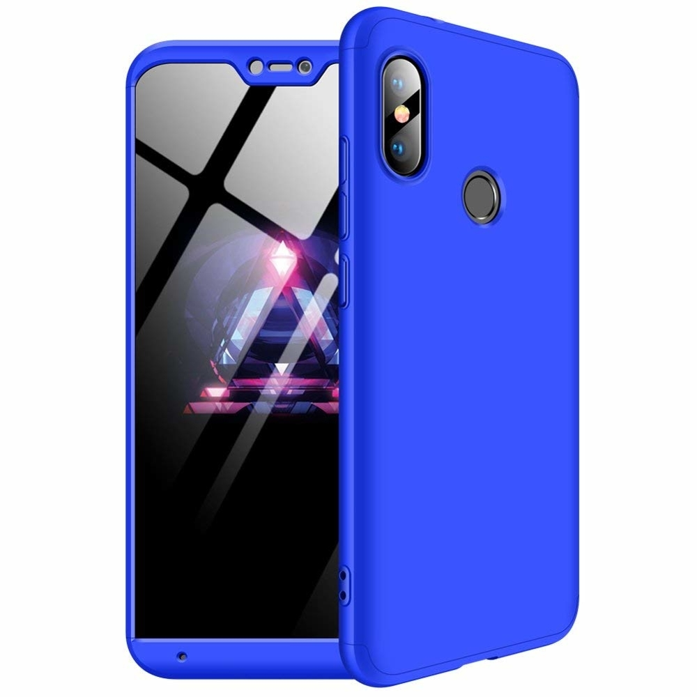 GKK Θήκη Hybrid Full Body 360° Xiaomi Mi A2 Lite / Redmi 6 Pro - Blue (45162)