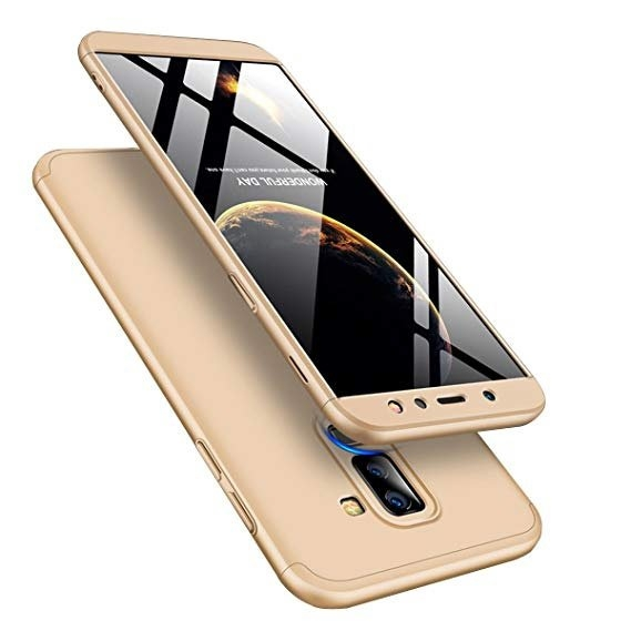 GKK Θήκη Hybrid Full Body 360° Samsung Galaxy A6 Plus 2018 - Gold (14987)