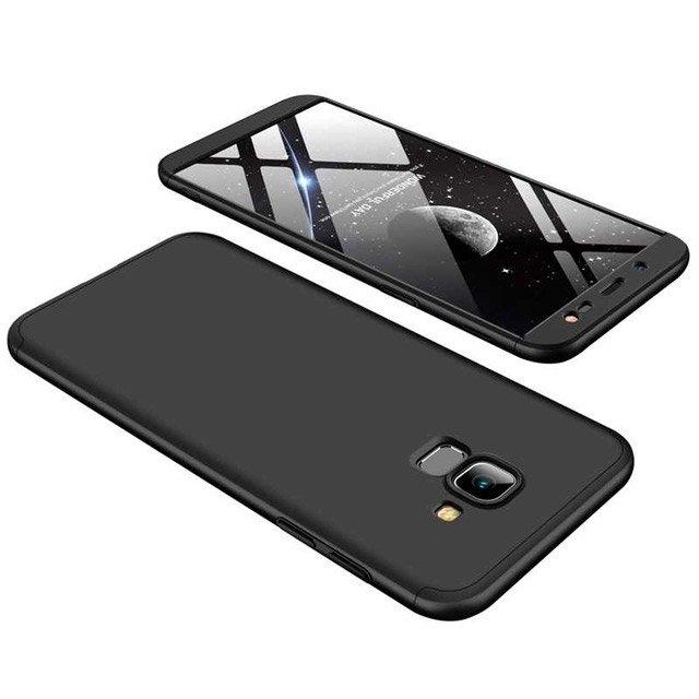 GKK Θήκη Hybrid Full Body 360° Samsung Galaxy J6 2018 - Black (14985)
