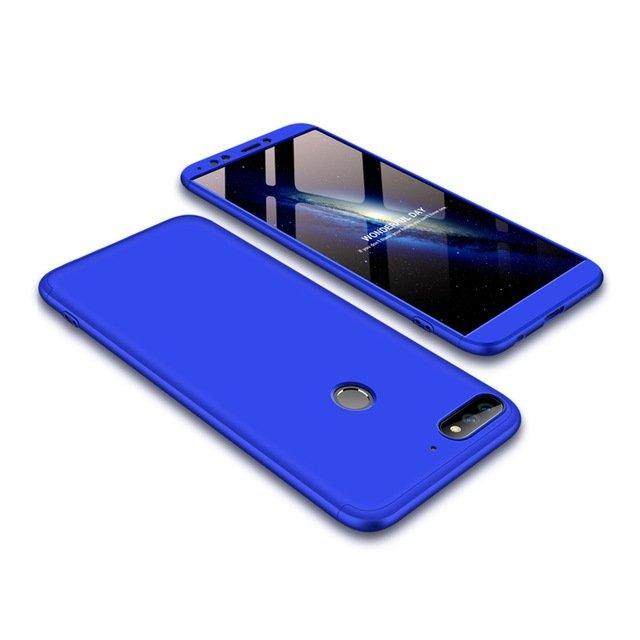 GKK Θήκη Hybrid Full Body 360° Huawei Y7 Prime 2018 - Blue (14339)