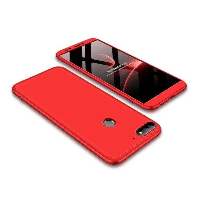 GKK Θήκη Hybrid Full Body 360° Huawei Y7 Prime 2018 - Red (14341)