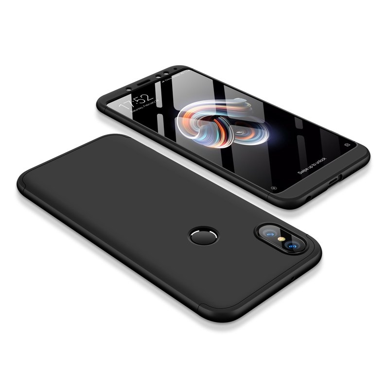 GKK Θήκη Hybrid Full Body 360° Xiaomi Redmi Note 5 / Redmi Note 5 Pro - Black (14344)