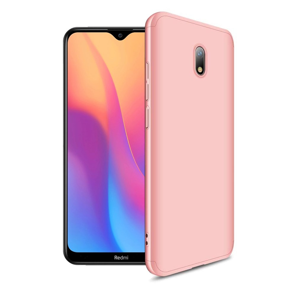 GKK Θήκη Hybrid Full Body 360° Xiaomi Redmi 8A - Rose Gold (62684)