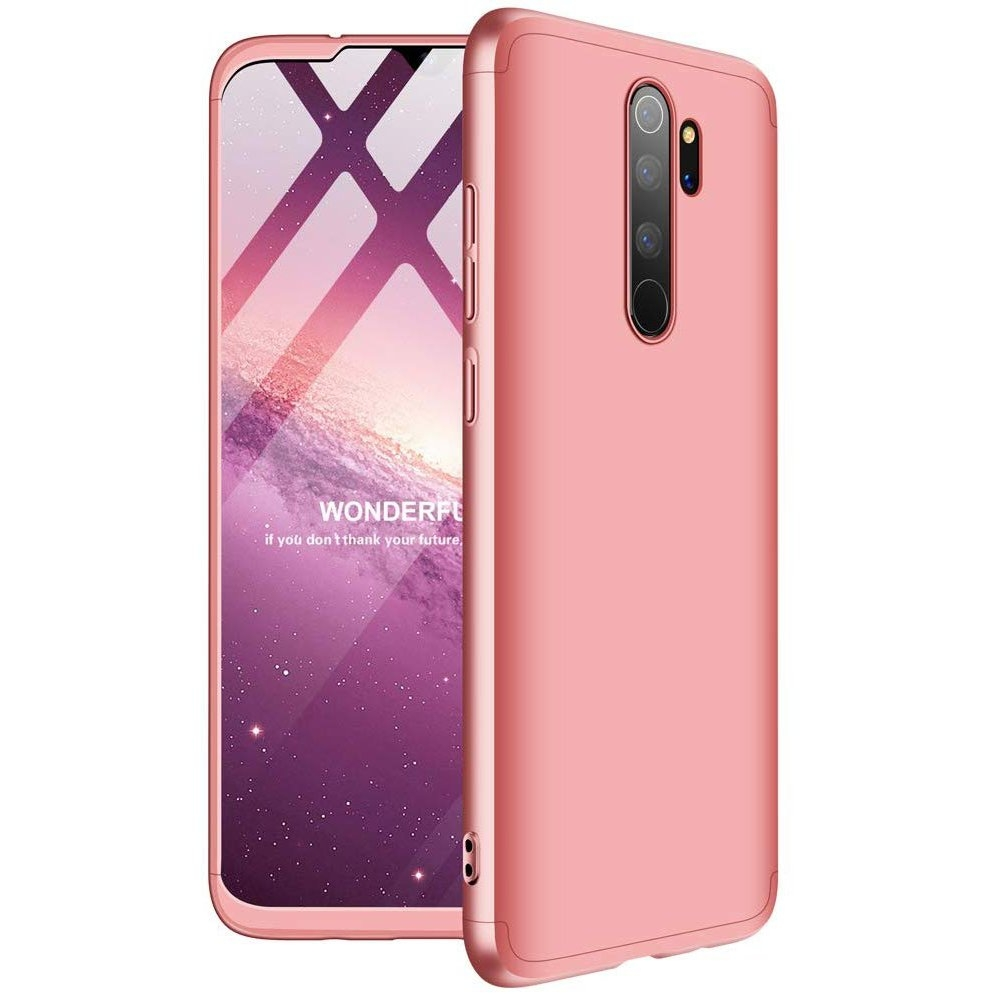 GKK Θήκη Hybrid Full Body 360° Xiaomi Redmi Note 8 Pro - Pink (61273)