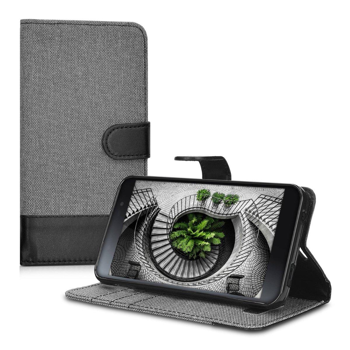 KW Θήκη Blackberry DTEK50 - Πορτοφόλι (39325.22) - Grey/Black