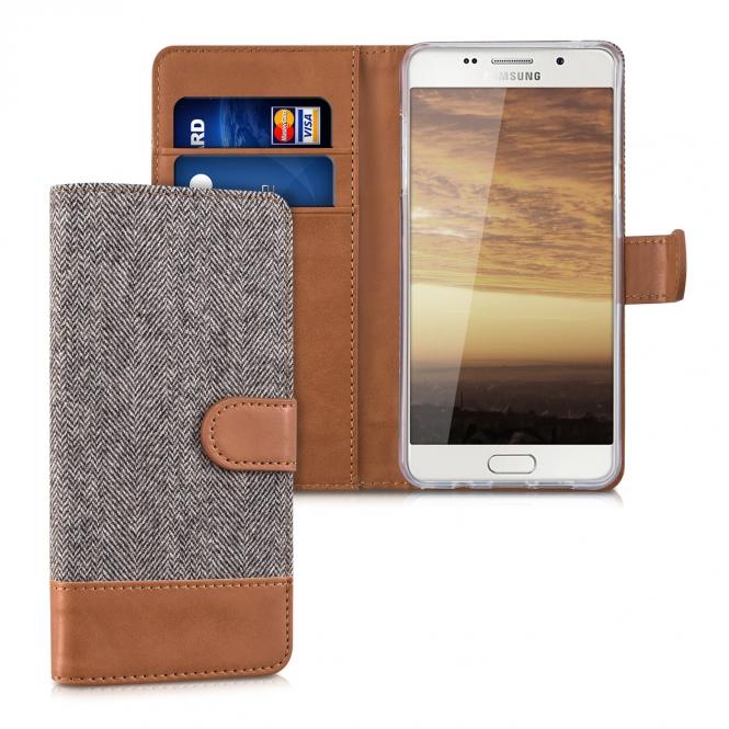 KW Θήκη Samsung Galaxy A5 II (2016) - Πορτοφόλι (39020.19) - Dark Grey/Brown