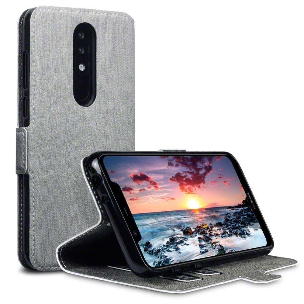 Terrapin Θήκη - Πορτοφόλι Nokia 5.1 Plus - Grey (117-001-315)
