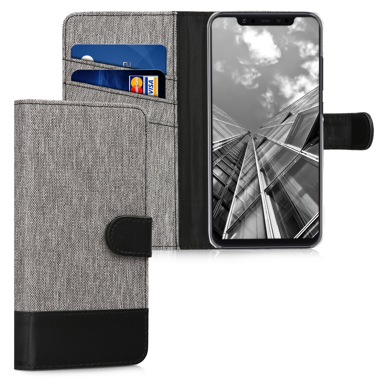 KW Θήκη - Πορτοφόλι Xiaomi Mi 8 - Grey / Black (45443.22)