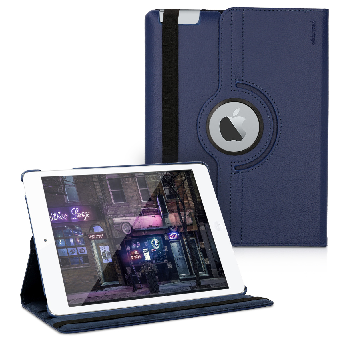 KW Θήκη 360° Apple iPad 2 / 3 / 4 - PU Leather Protective Tablet Cover with Stand Function - Dark Blue (11104.17)