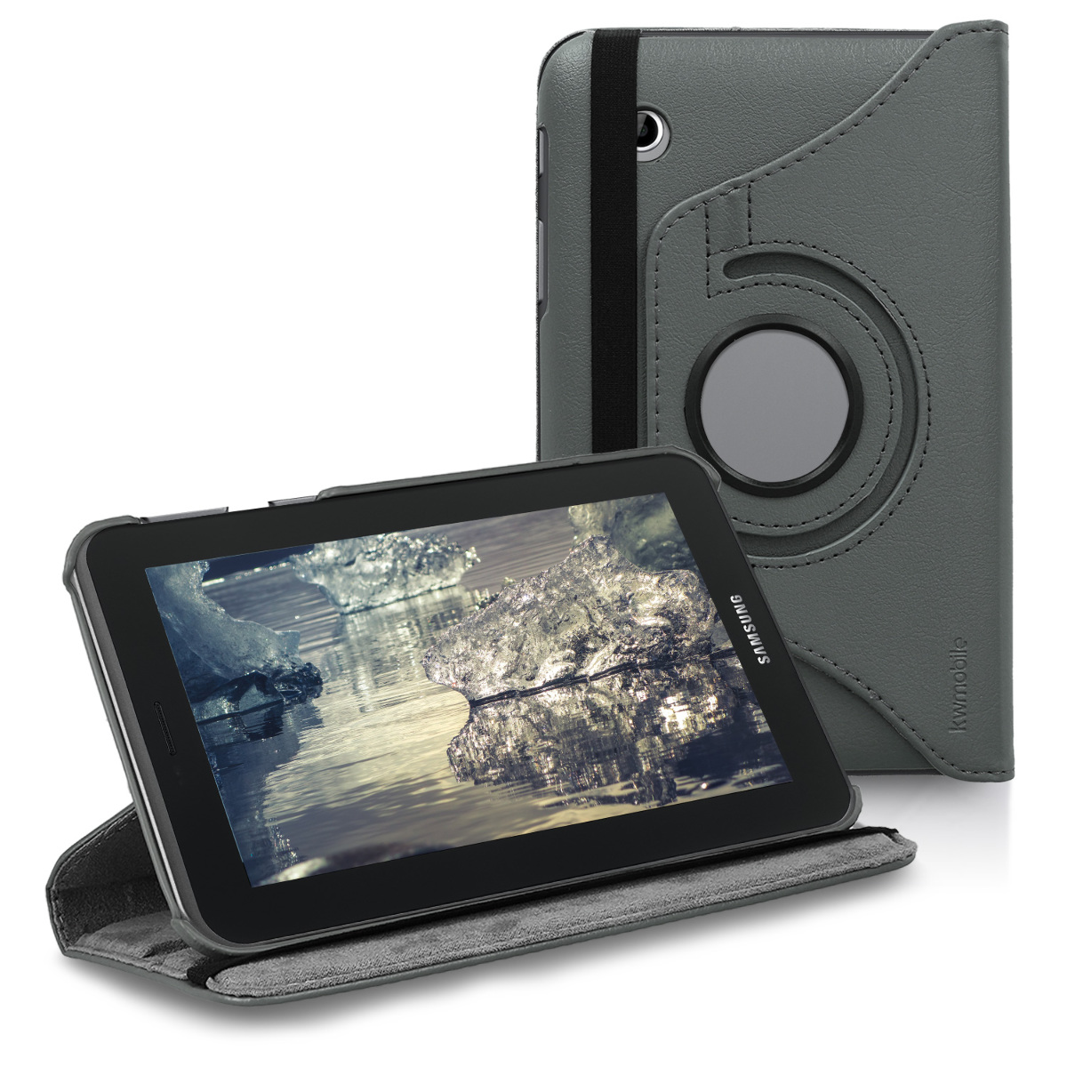 KW Θήκη 360° Samsung Galaxy Tab 2 7.0 P3110 / P3100 - Συνθετικό Δέρμα - Anthracite (11210.73)