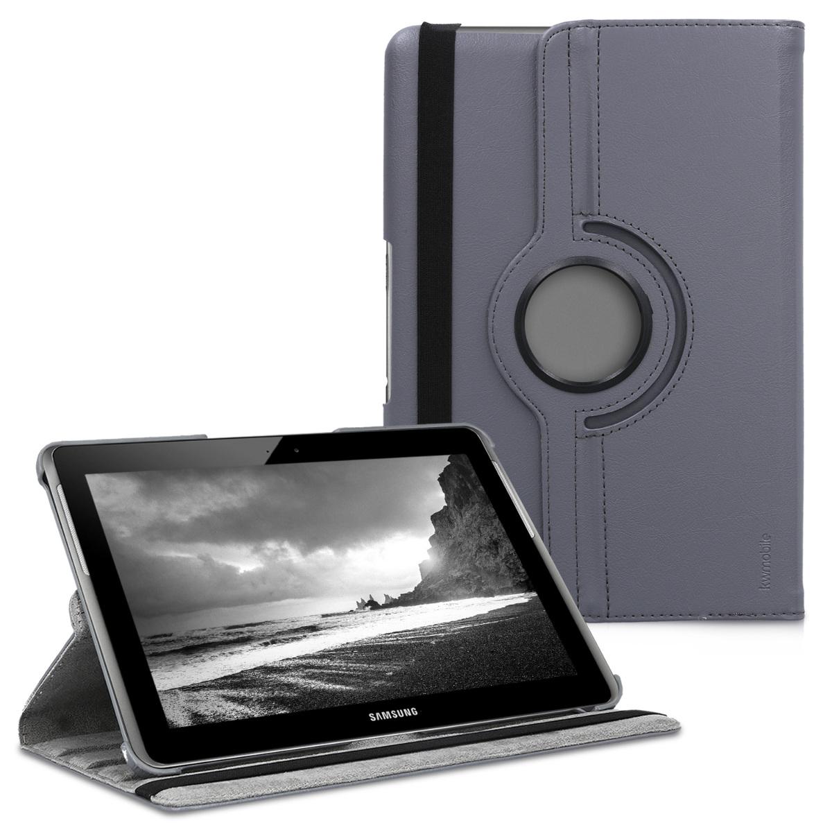 KW Θήκη 360° Samsung Galaxy Tab 2 10.1 P5100/P5110 - Συνθετικό Δέρμα - Anthracite (11211.73)