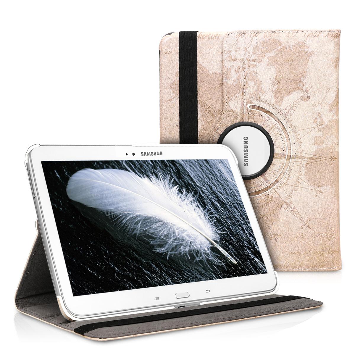 KW Θήκη 360° Samsung Galaxy Tab 3 10.1 P5200/P5210 - Brown / Light Brown (17318.15)