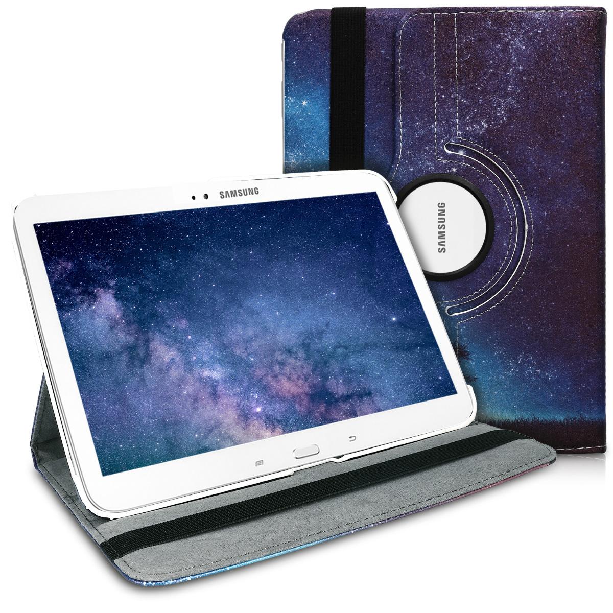 KW Θήκη 360° Samsung Galaxy Tab 3 10.1 - Μαύρο/Μπλε/Γκρι (17318.17)