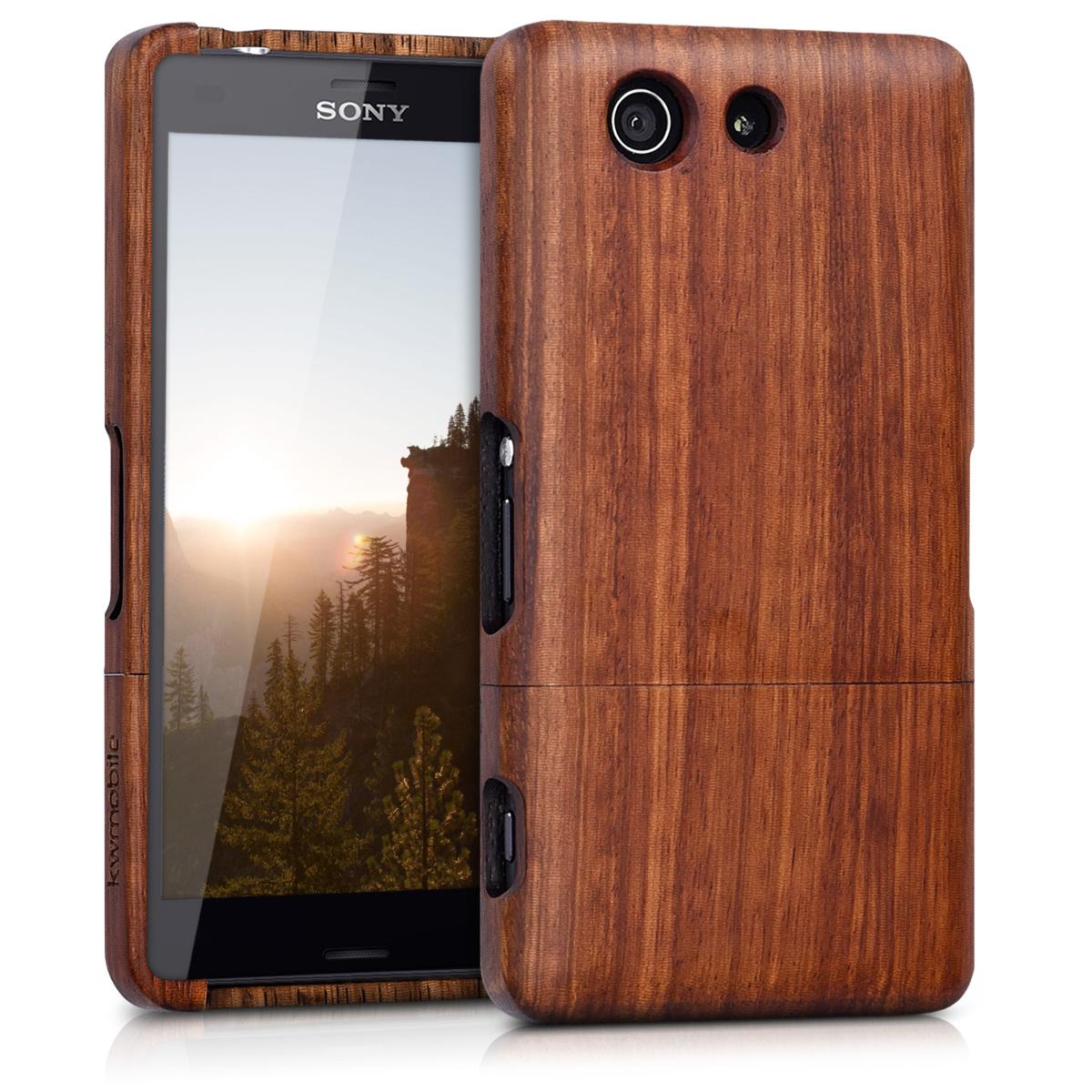 KW Ξύλινη Θήκη Sony Xperia Z3 Compact - Rosewood brown (24719.05)