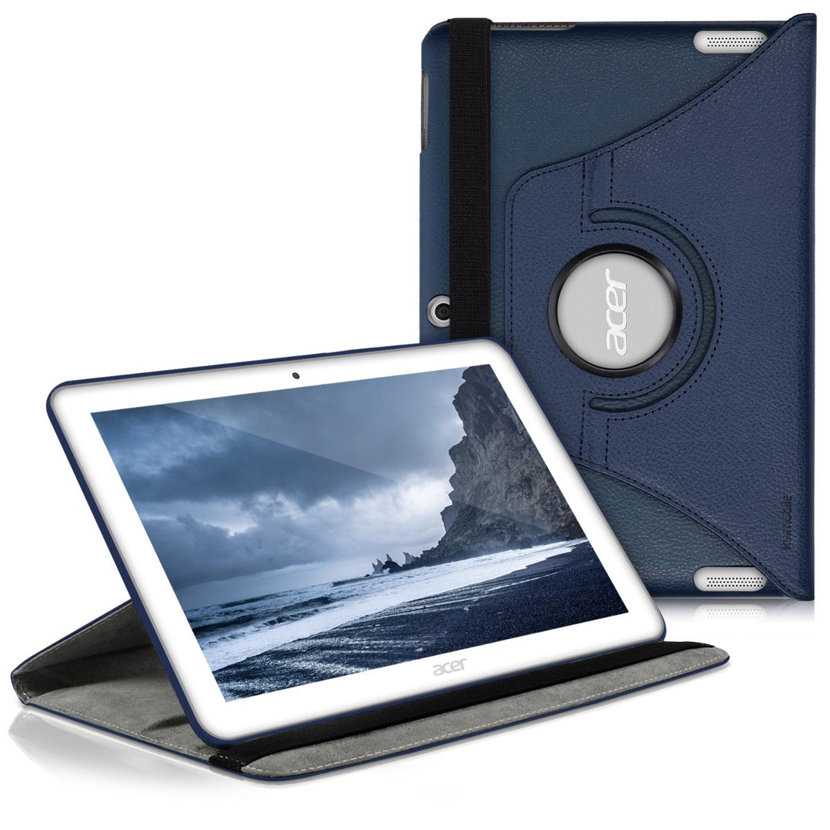 KW Θήκη 360° Acer Iconia Tab 10 (A3-A20) - Συνθετικό Δέρμα - Dark Blue (26813.17)