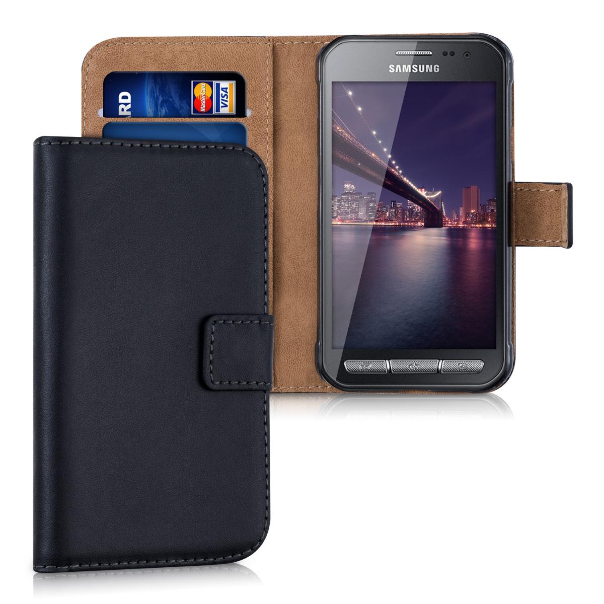 KW Θήκη Πορτοφόλι Samsung Galaxy Xcover 3 - Συνθετικό Δέρμα - Black / Brown (31506.01)