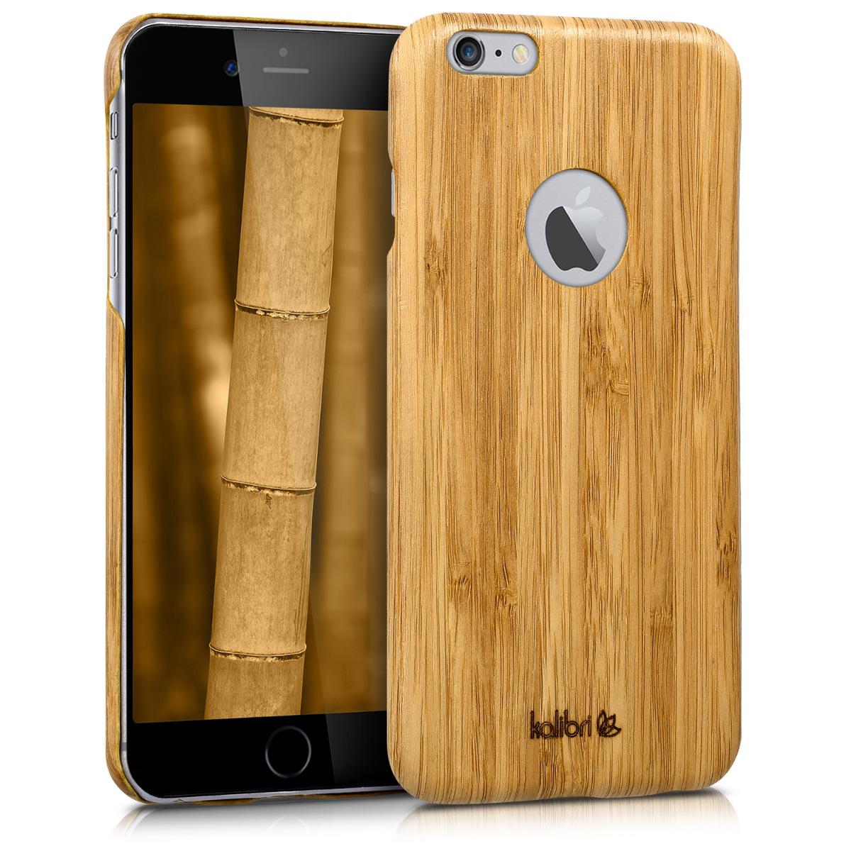 Kalibri Ξύλινη Θήκη iPhone 6 Plus / 6S Plus - Ανοιχτό καφέ (34415.24)