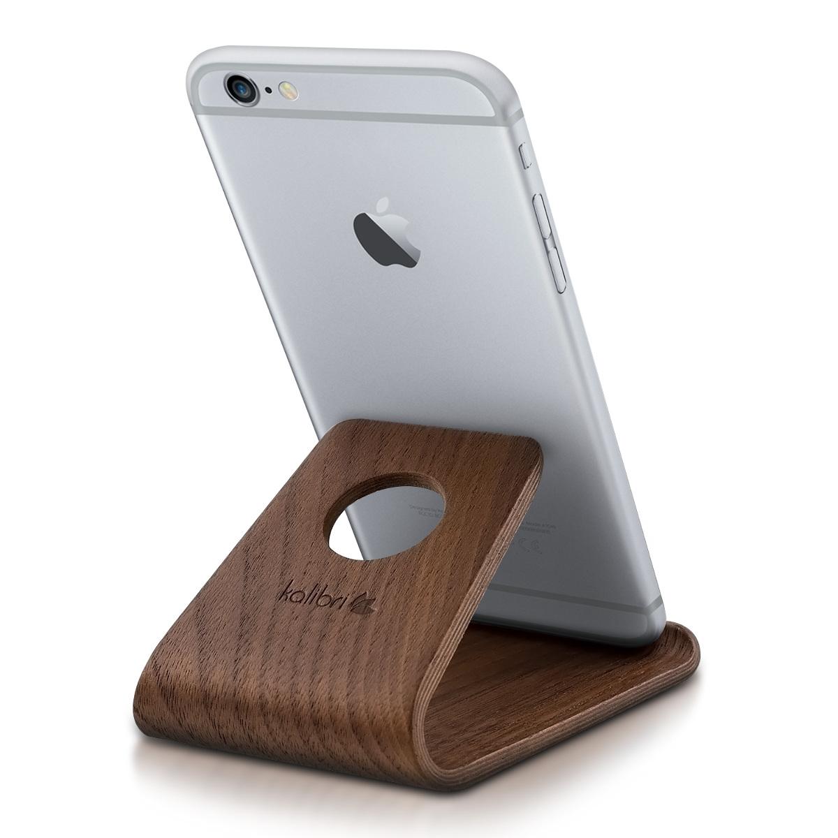 Kalibri Universal Wooden Stand - Ξύλινη Βάση για iPhone / Android / Tablet / e-Reader - Dark Brown (34561.18)