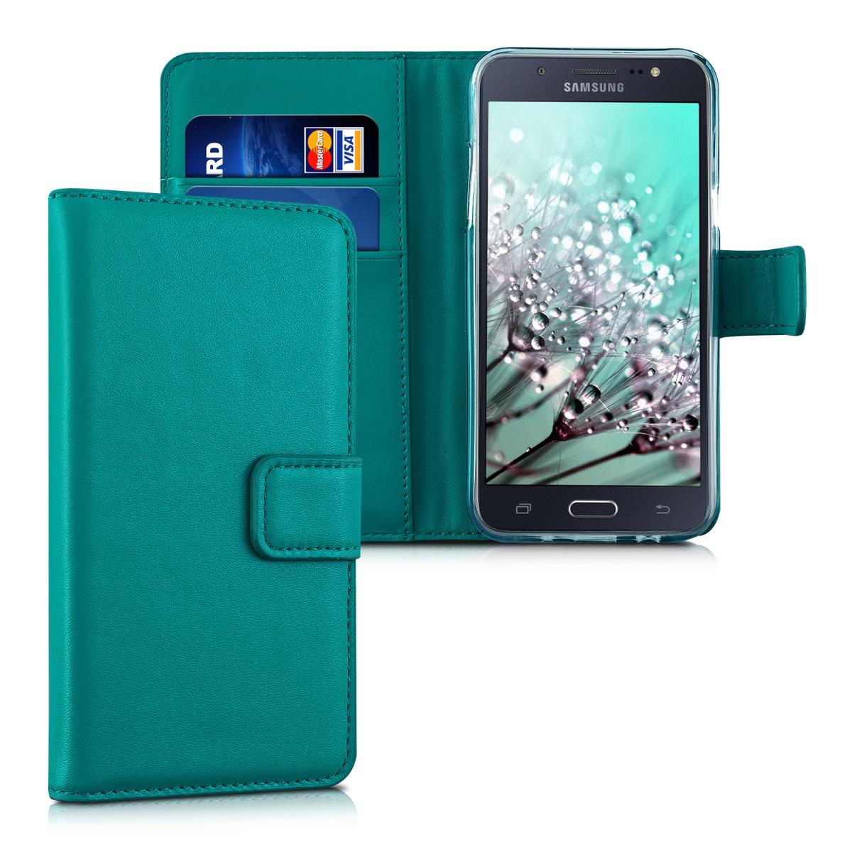 KW Θήκη Πορτοφόλι Samsung Galaxy J5 (2015) Συνθετικό Δέρμα - Petrol (34804.78)
