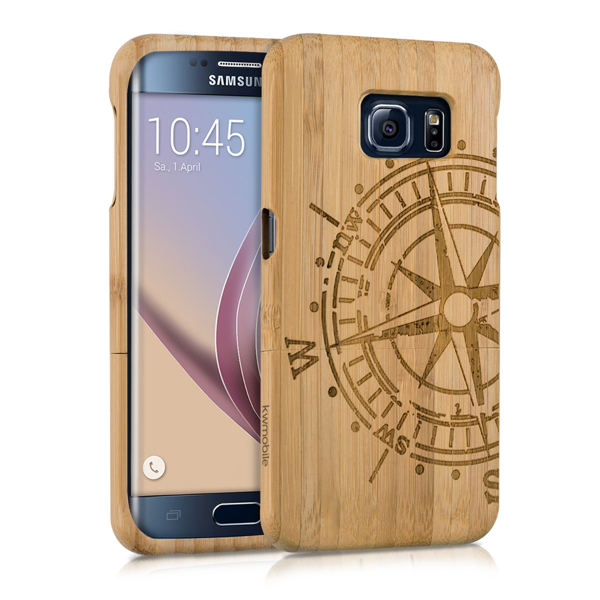 KW Σκληρή Bamboo Ξύλινη Θήκη Samsung Galaxy S6 Edge (34905.01)