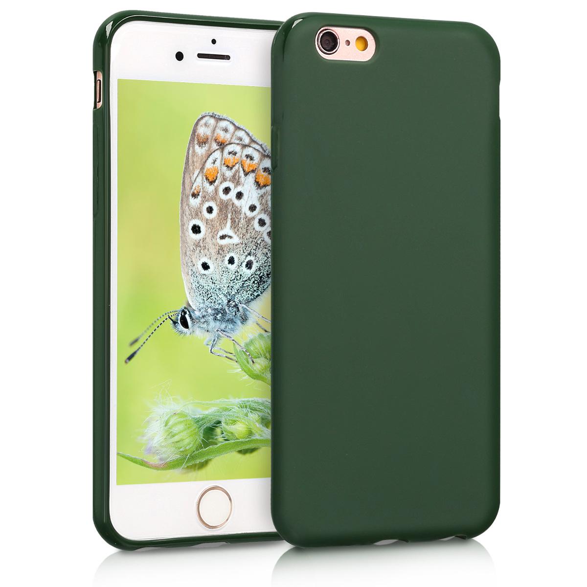 KW Θήκη Σιλικόνης iPhone 6 / 6S - Dark Green Matte (35176.80)