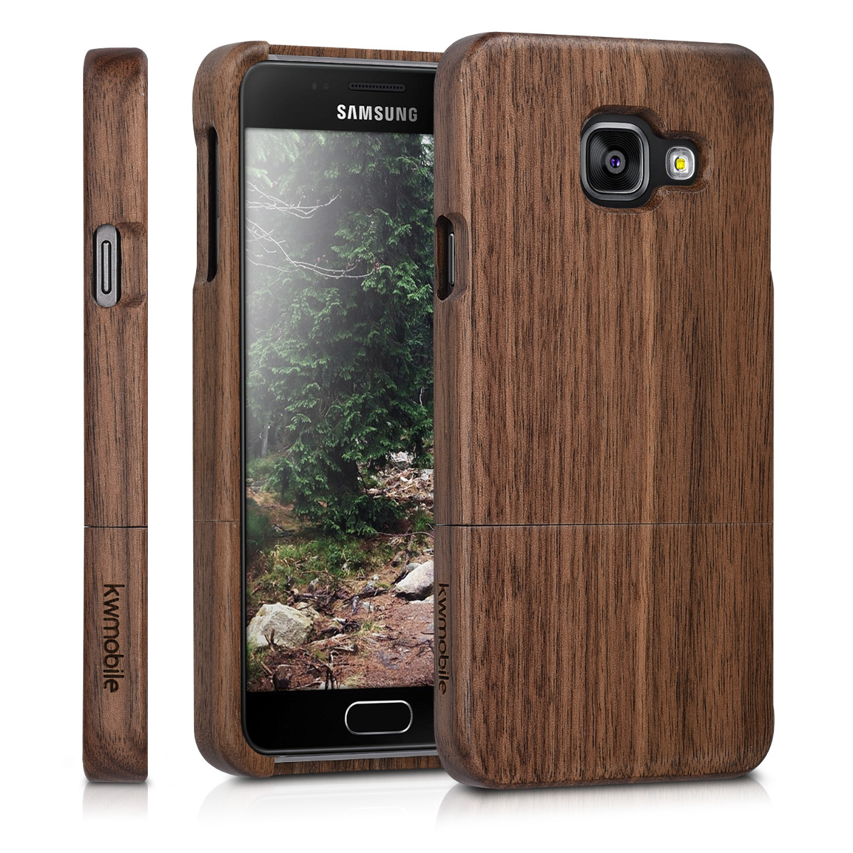KW Σκληρή Ξύλινη Θήκη - Samsung Galaxy A3 (2016) - Dark Brown - (36072.05)