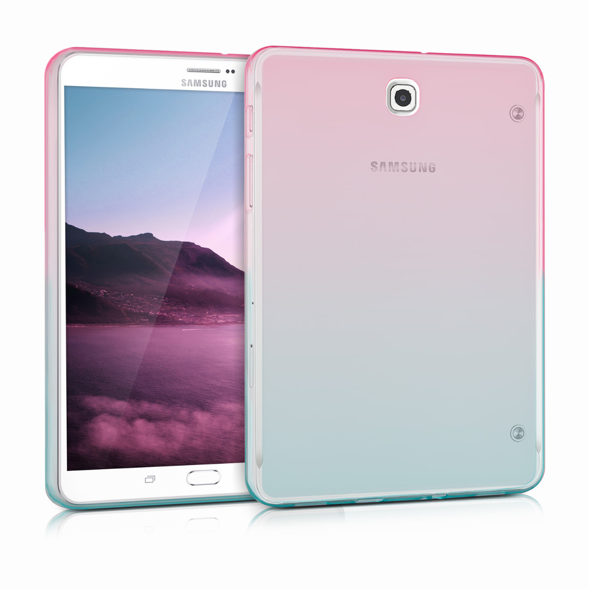 KW Θήκη Σιλικόνης Samsung Galaxy Tab S2 8.0 - Dark Pink / Blue / Transparent (36289.01)