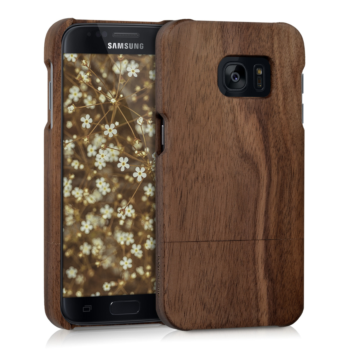 KW Ξύλινη Θήκη Samsung Galaxy S7 - Καφέ(37138.05)