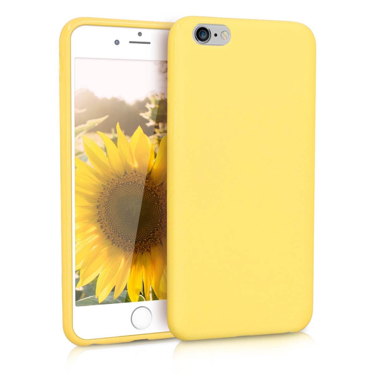 KW Soft Flexible Rubber Θήκη Σιλικόνης iPhone 6 Plus / 6S Plus - Pastel Yellow Matte (37726.119)