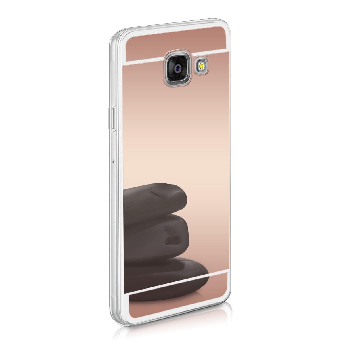 KW Θήκη Σιλικόνης (TPU) με Καθρέφτη Samsung Galaxy A3 (2016) - Rose Gold Reflective (37788.54)