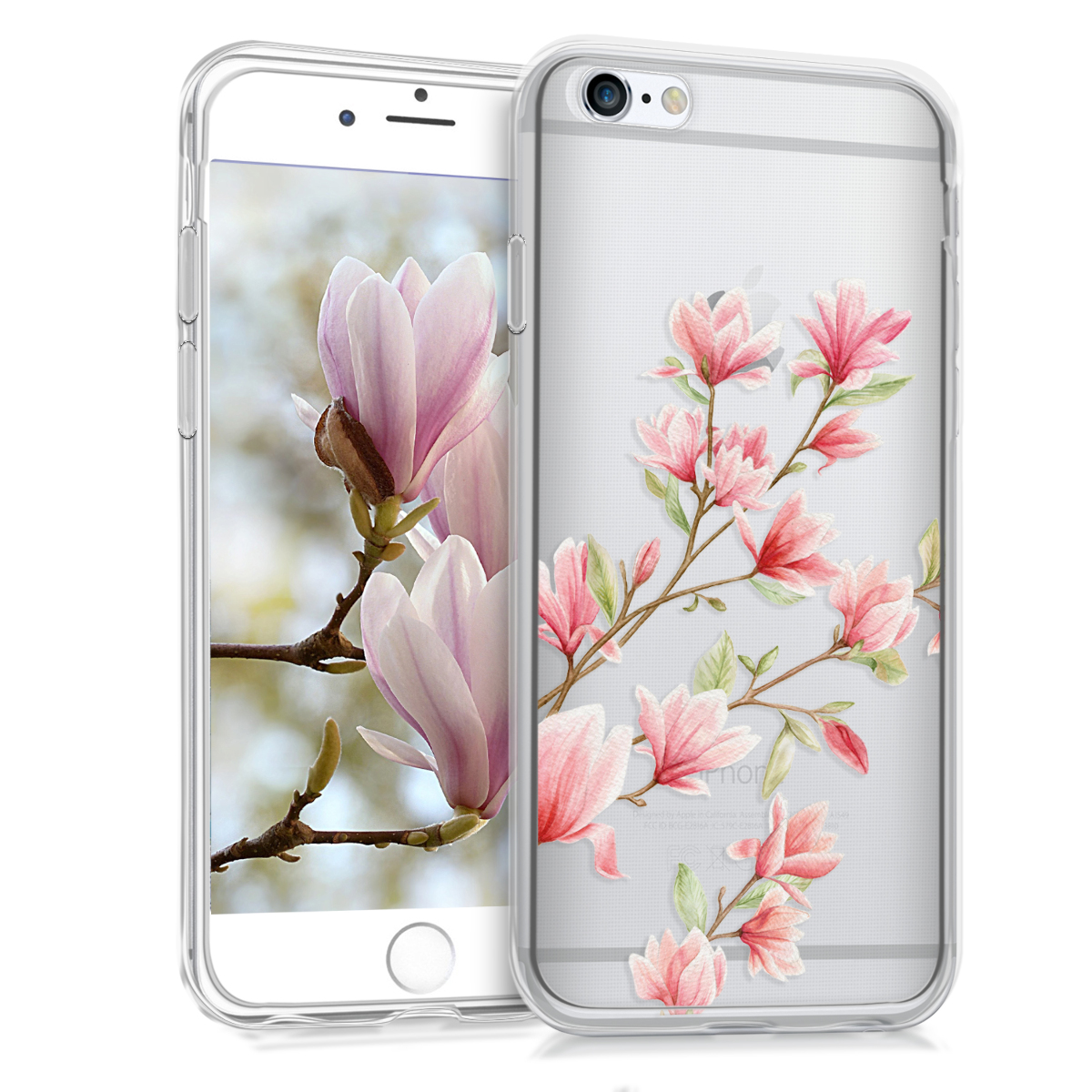 KW Θήκη Σιλικόνης Apple iPhone 6 / 6S - Light Pink / White / Transparent (37850.04)