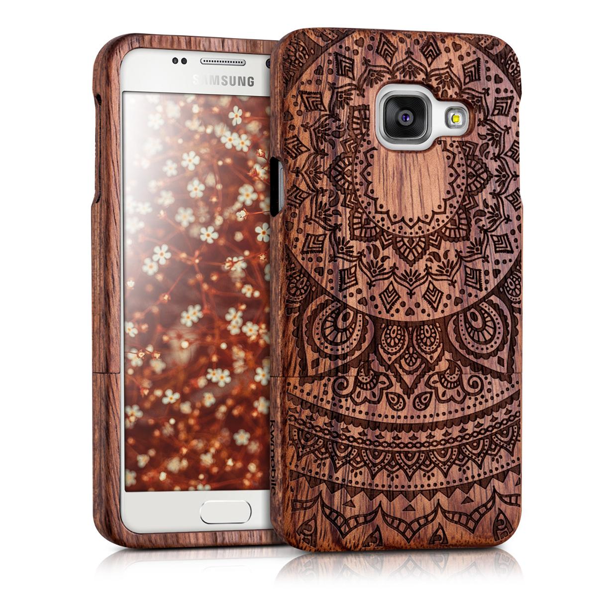 KW Ξύλινη Θήκη Samsung Galaxy A3 (2016) - Indian Sun - Dark Brown (37937.03)