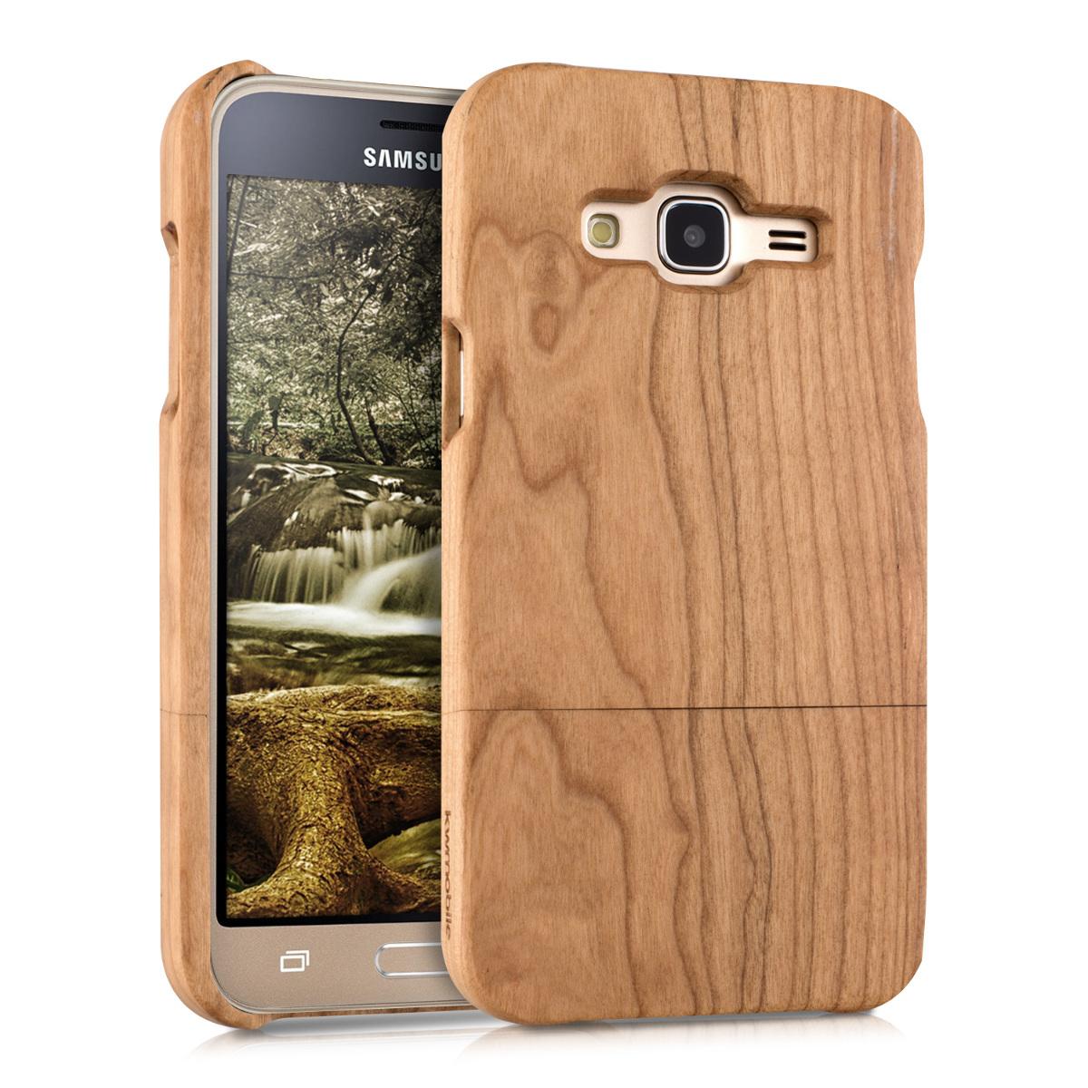 KW Ξύλινη Θήκη Samsung Galaxy J3 (2016) DUOS  - Cherrywood light brown (38160.24)