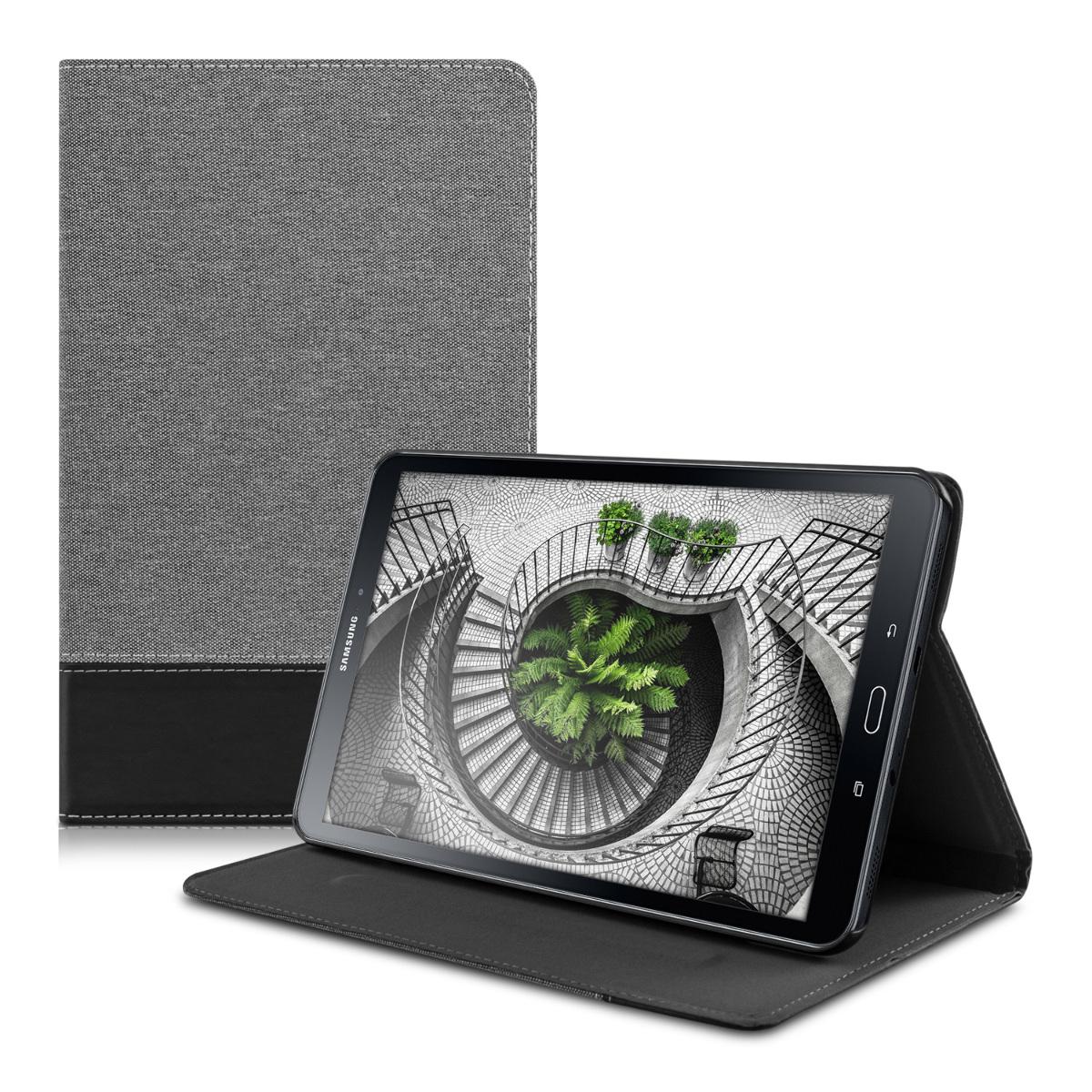 KW Θήκη - Πορτοφόλι Samsung Galaxy Tab A 10.1'' 2016 - Grey / Black (38634.22)